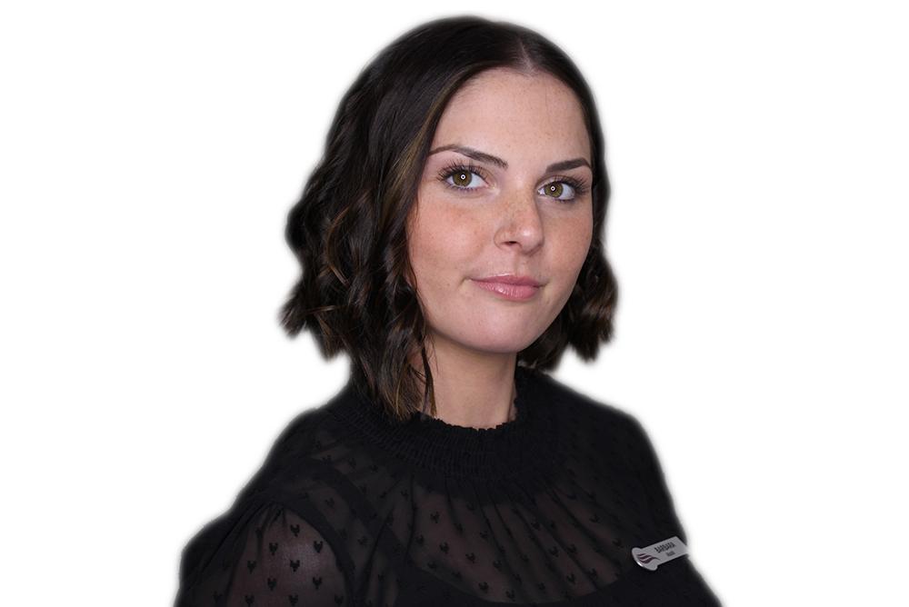 Barbara Auszubildende bei WEF FRISURE in Mönchengladbach.